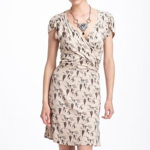 Anthropologie Leifnotes Up and Away Wrap Dress
